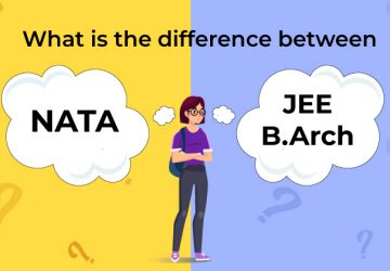 What is the difference between JEE B. Arch and NATA?